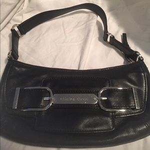 Charles David pochette leather handbag